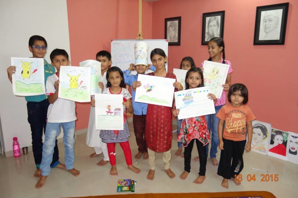 Afsana's class of child artists