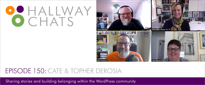 Hallway Chats Episode 150 - Cate & Topher DeRosia